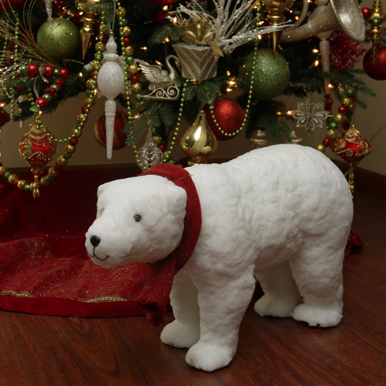 shop 25 walking plush white polar bear christmas decoration free shipping today overstockcom 16553899 - Polar Bear Christmas Decorations