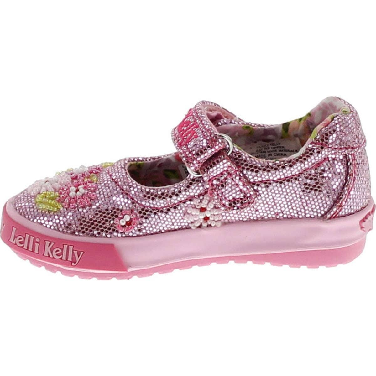 ad0bae33 Shop Lelli Kelly Kids Girls Lk4056 Fashion Mary Jane Flats Shoes - Pink  Glitter - Free Shipping Today - Overstock - 14809784