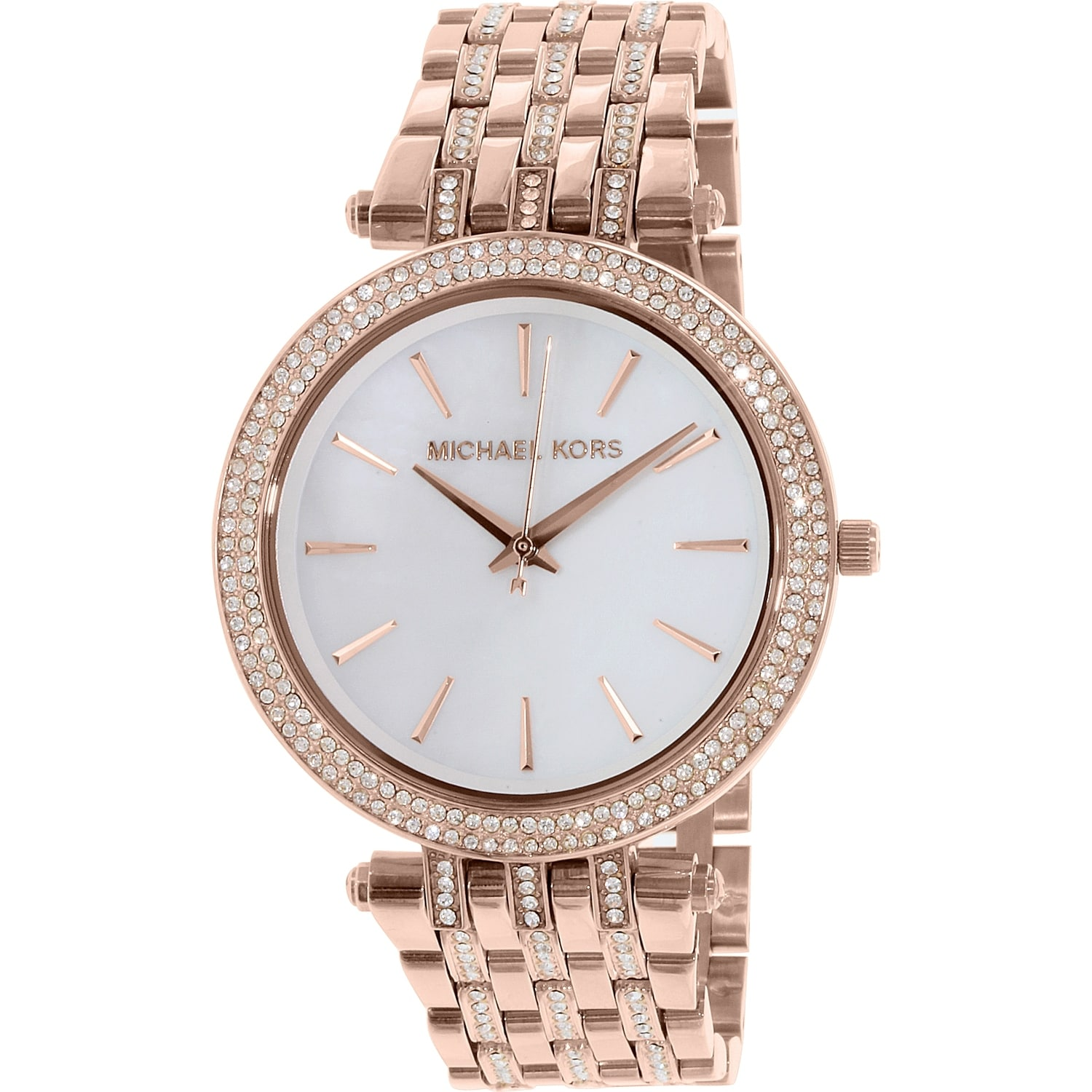 5fd740adb785 Shop Michael Kors Women s Darci Rose Gold Stainless Steel Plated Michael  Kors Women%27s Darci MK3220 Rose Gold Stainless Steel Plated Fashion Watch  ...