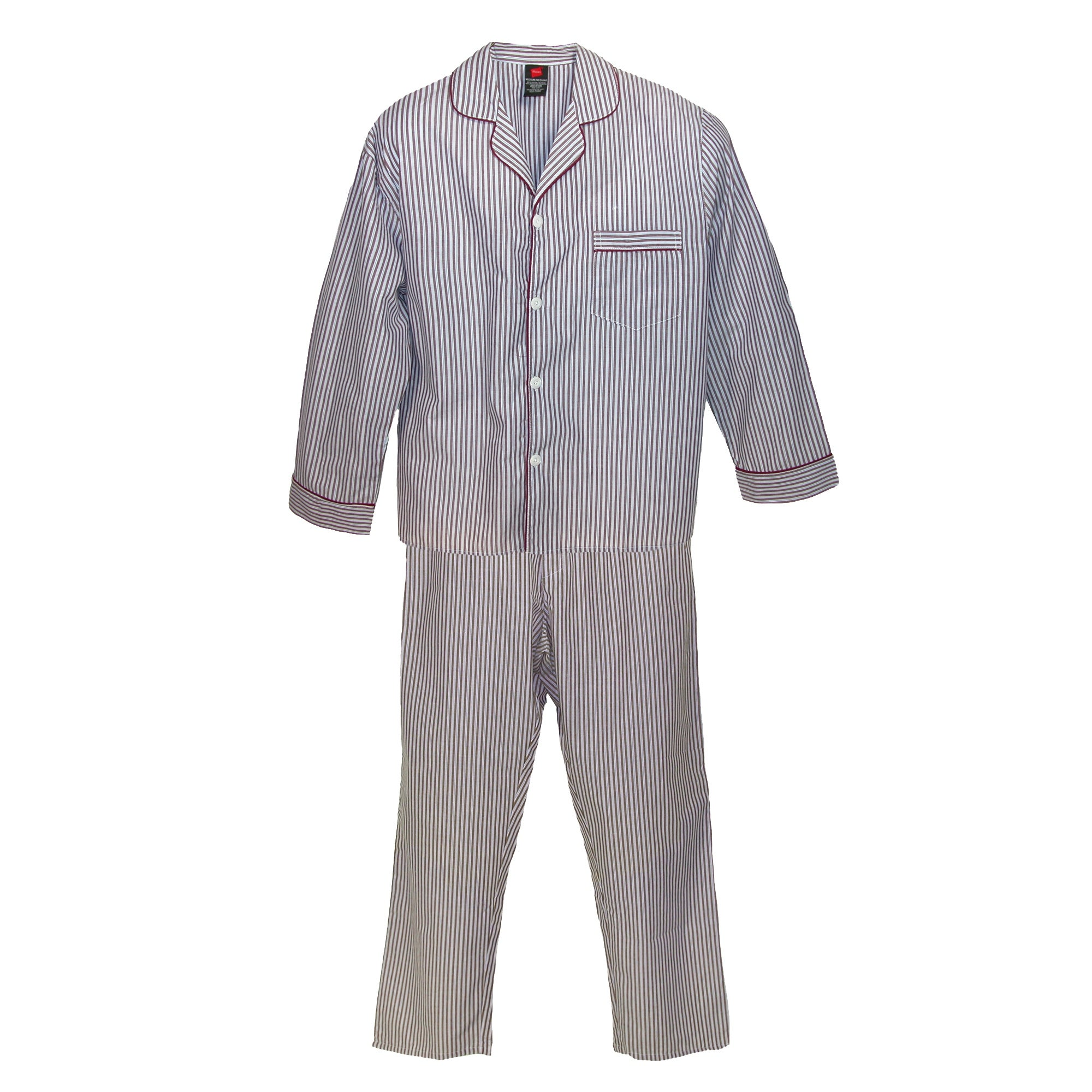a5313aab816b2 Shop Hanes Men's Big & Tall Broadcloth Long Sleeve Pajama Set - Free  Shipping On Orders Over $45 - Overstock - 14295077