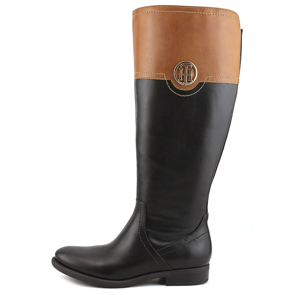 0f26417b4 Shop Tommy Hilfiger Silvan 2 Wide Calf Round Toe Leather Knee High Boot -  Free Shipping Today - Overstock - 14287880