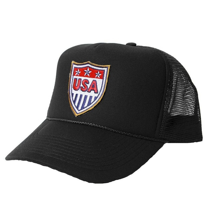 e03740eddee USA Patriotic National Trucker Hat Black - Free Shipping On Orders Over  45  - Overstock - 27501395