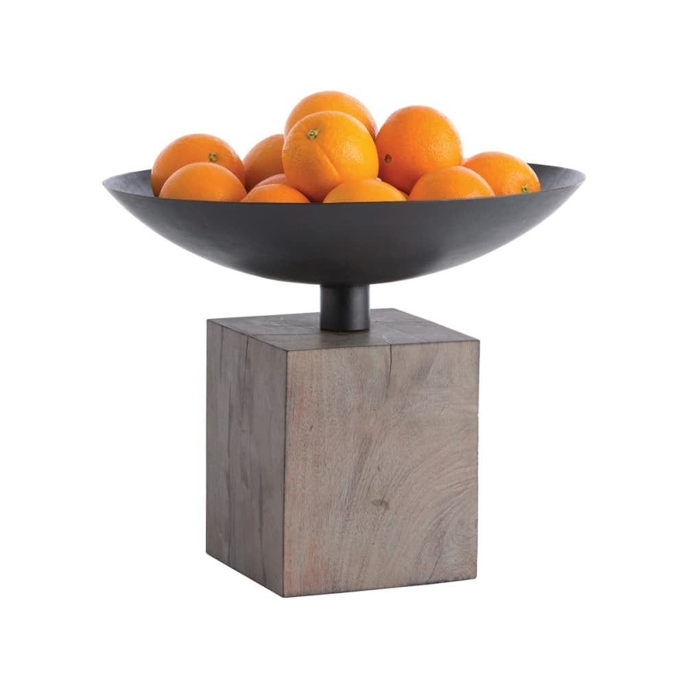 Shop arteriors 4191 templeton 16 wide wood decorative bowl washed grey free shipping today overstock com 22914213