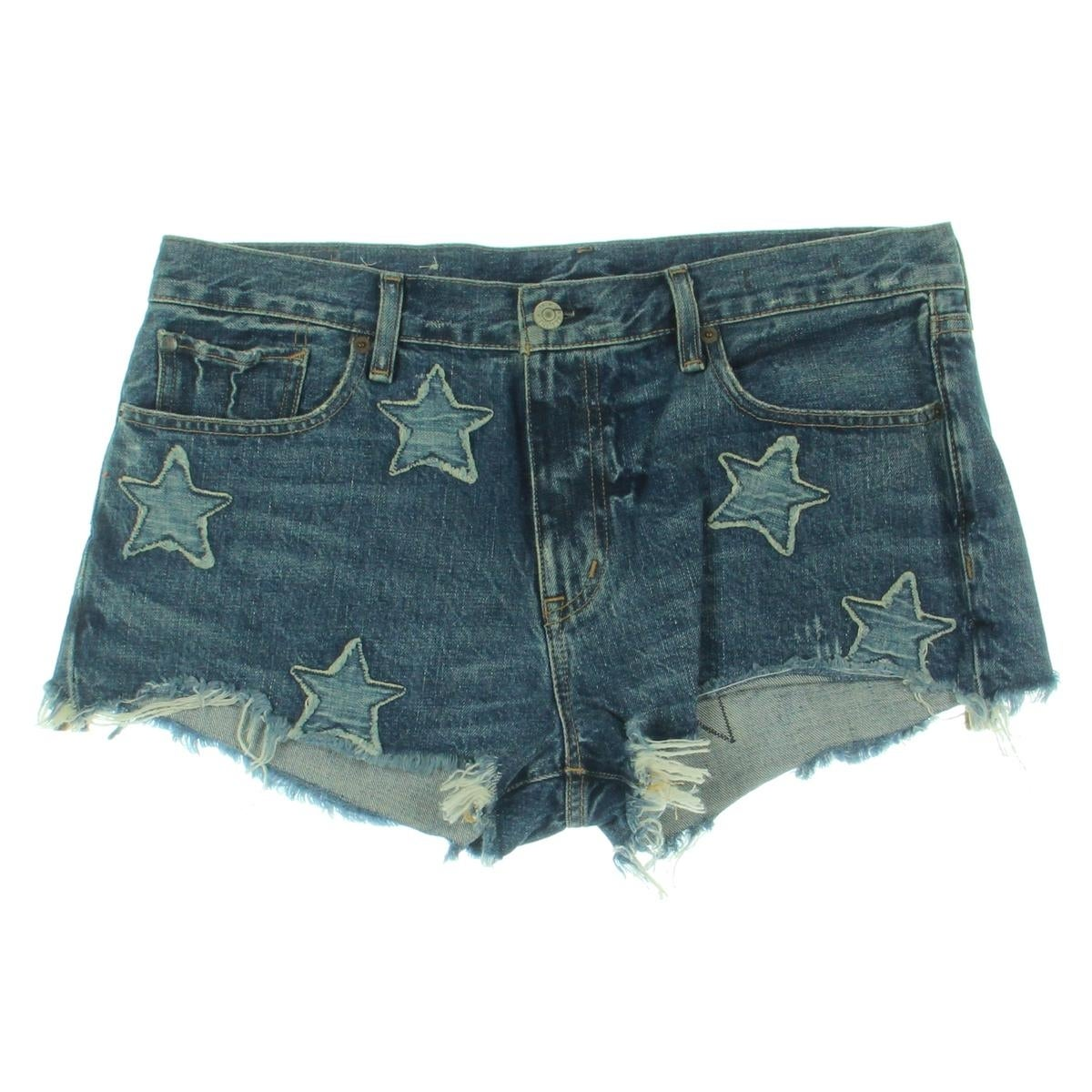 238557c86 Shop Denim   Supply Ralph Lauren Womens Shorts Boyfriend Star Patchwork -  Free Shipping On Orders Over  45 - Overstock - 20908333