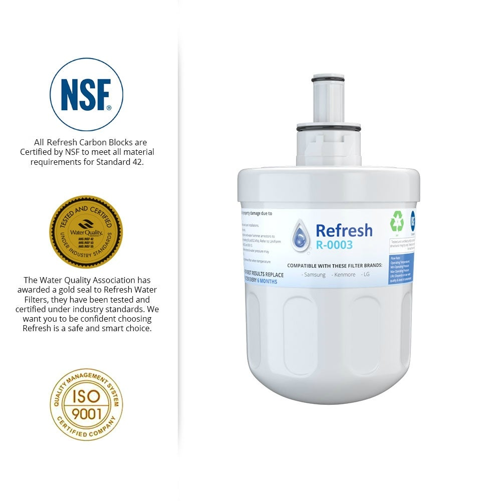 Shop Replacement Water Filter For Samsung RF26XAEWP Refrigerator Water  Filter - by Refresh - Free Shipping On Orders Over $45 - Overstock.com -  21456059