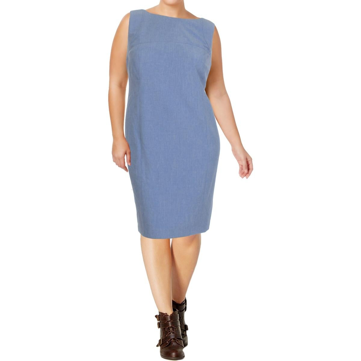 584ced0f84 Shop Nine West Womens Plus Wear to Work Dress Crosshatch Seamed - Free  Shipping On Orders Over  45 - Overstock - 22641194
