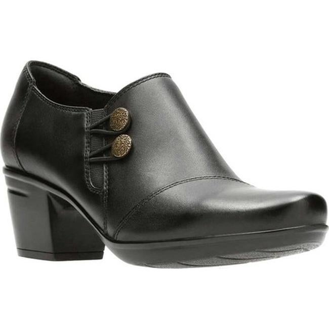 209223ff45 Shop Clarks Women s Emslie Warren Bootie Black Full Grain Leather ...