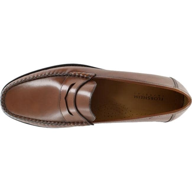86df6c32bb8 Shop Florsheim Men s Brookfield Penny Cognac Calfskin - Free Shipping Today  - Overstock - 11965397