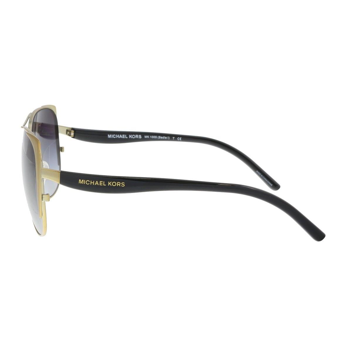 9a152ab7da883 Shop Michael Kors MK1005 115611 Sadie Gold Aviator Sunglasses - 59-15-135 -  Free Shipping Today - Overstock.com - 19547268