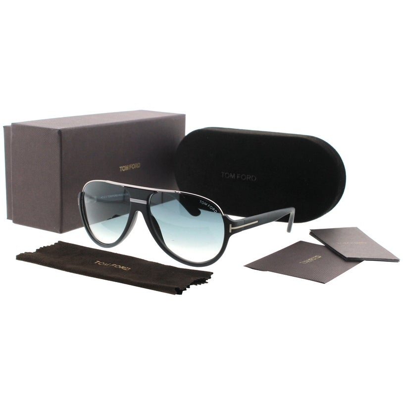 610738196589e Shop Tom Ford Dimitry TF334 02W Matte Black Ruthenium Aviator Sunglasses - matte  black ruthenium - 59mm-14mm-130mm - Free Shipping Today - Overstock - ...