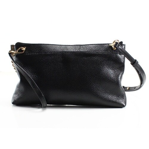61e7631536e6 Shop Michael Kors NEW Black Leather James Large Zip Clutch Crossbody Purse  - Free Shipping Today - Overstock - 19557246