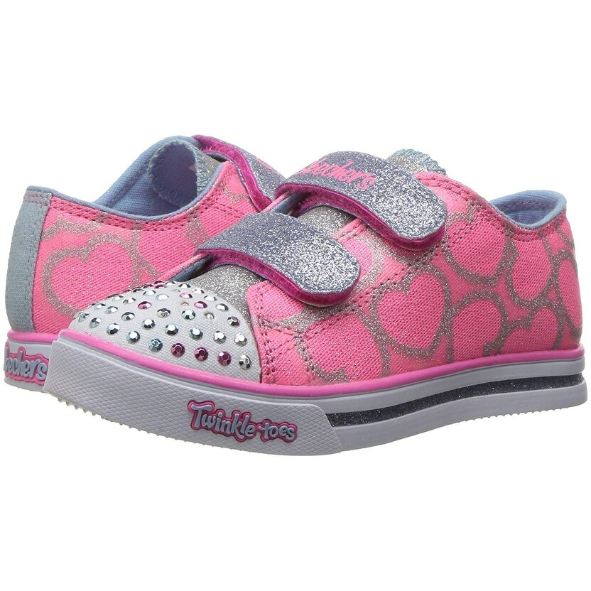 c4eedebfc808 Shop Skechers Kids Twinkle Toes Shuffles Sweet Steps Light-Up Sneaker