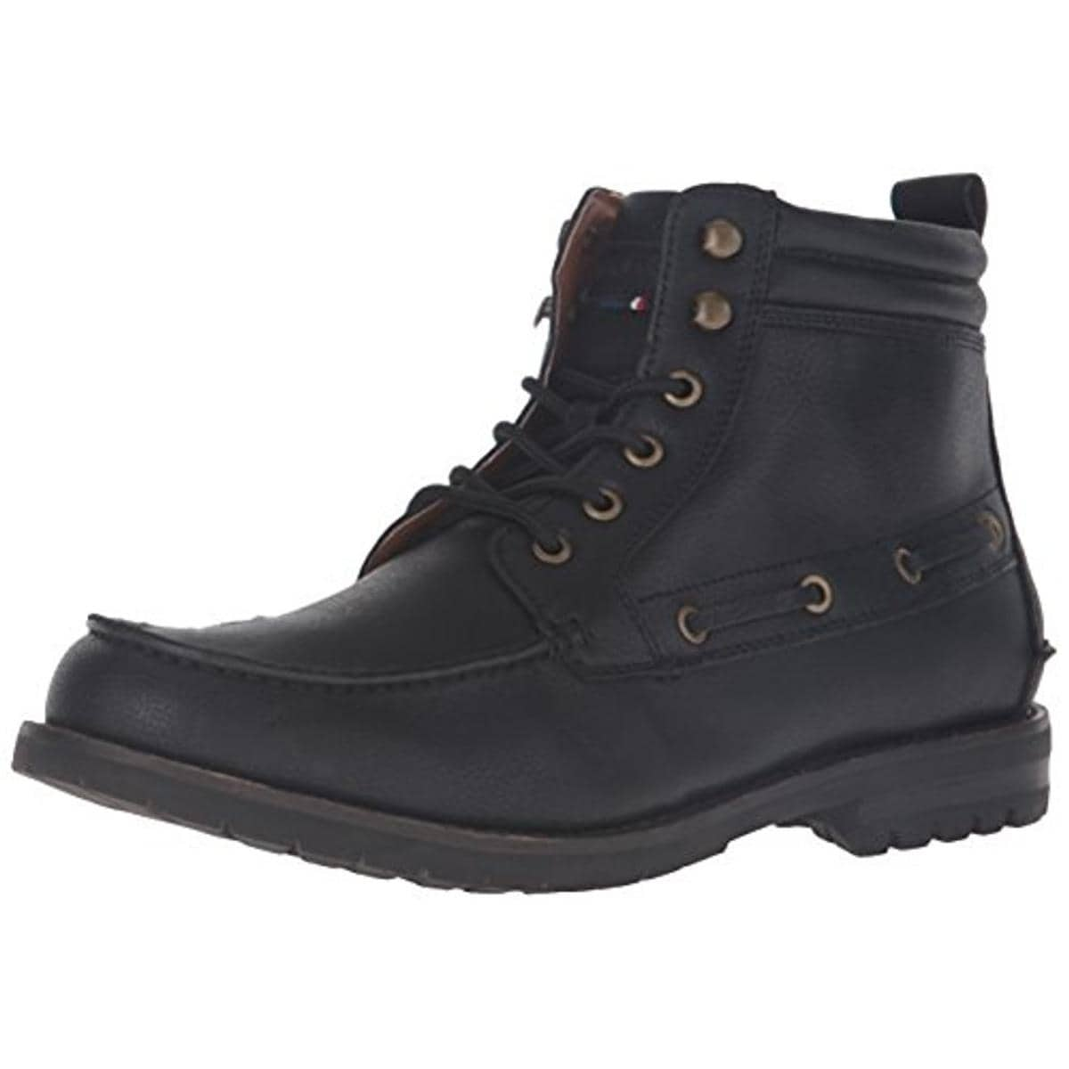 a323e34f6025ff Tommy Hilfiger Mens Beaumont Winter Boots Faux Leather Lace Up - 7.5 medium  (d). by Tommy Hilfiger