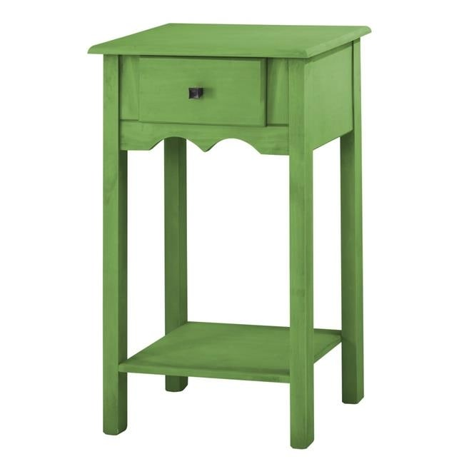 Shop Jay 35 43 In Tall End Table With 1 Full Extension Drawer In