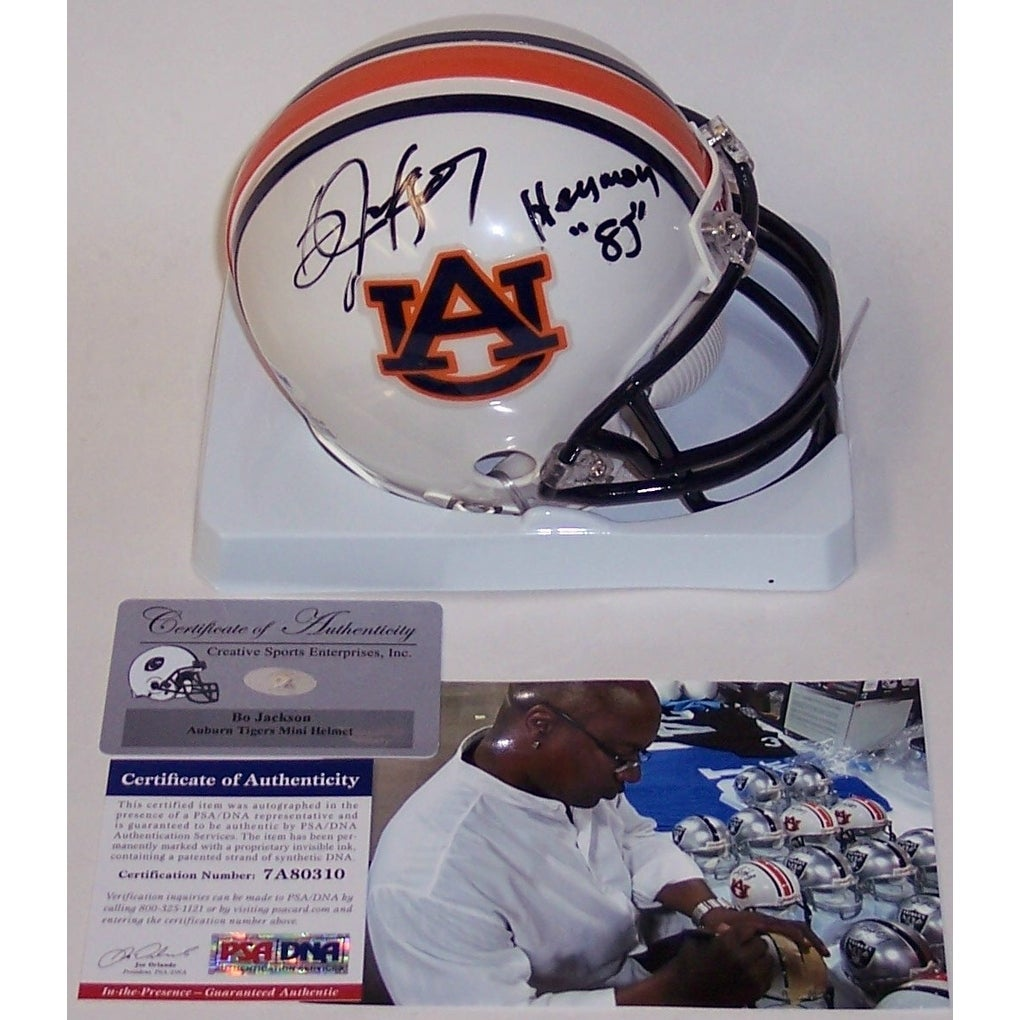 33d70819eff Shop Bo Jackson Autographed Hand Signed Auburn Tigers Mini Helmet - PSA DNA  - Free Shipping Today - - 12905512