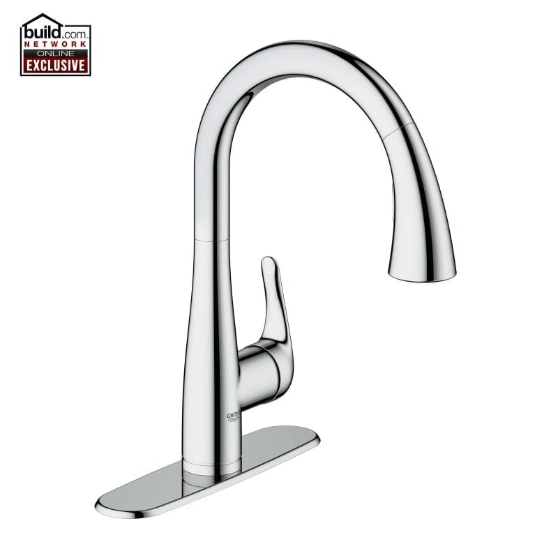 Shop Grohe 30 211 Elberon Transitional Pull-Down Kitchen Faucet ...