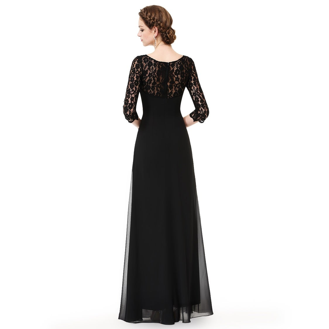 a576ee3f Shop Ever-Pretty Women's Lace Long Sleeve Floor Length Evening Gown 08861 -  On Sale - Free Shipping Today - Overstock - 26063361