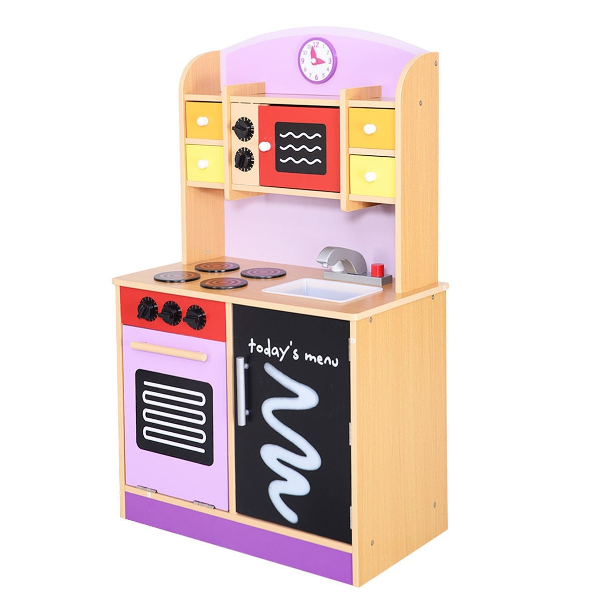 Shop Generic Wood Kitchen Toy Kids Cooking Pretend Play Set Toddler Wooden  Playset   Pink   Free Shipping Today   Overstock.com   16004193