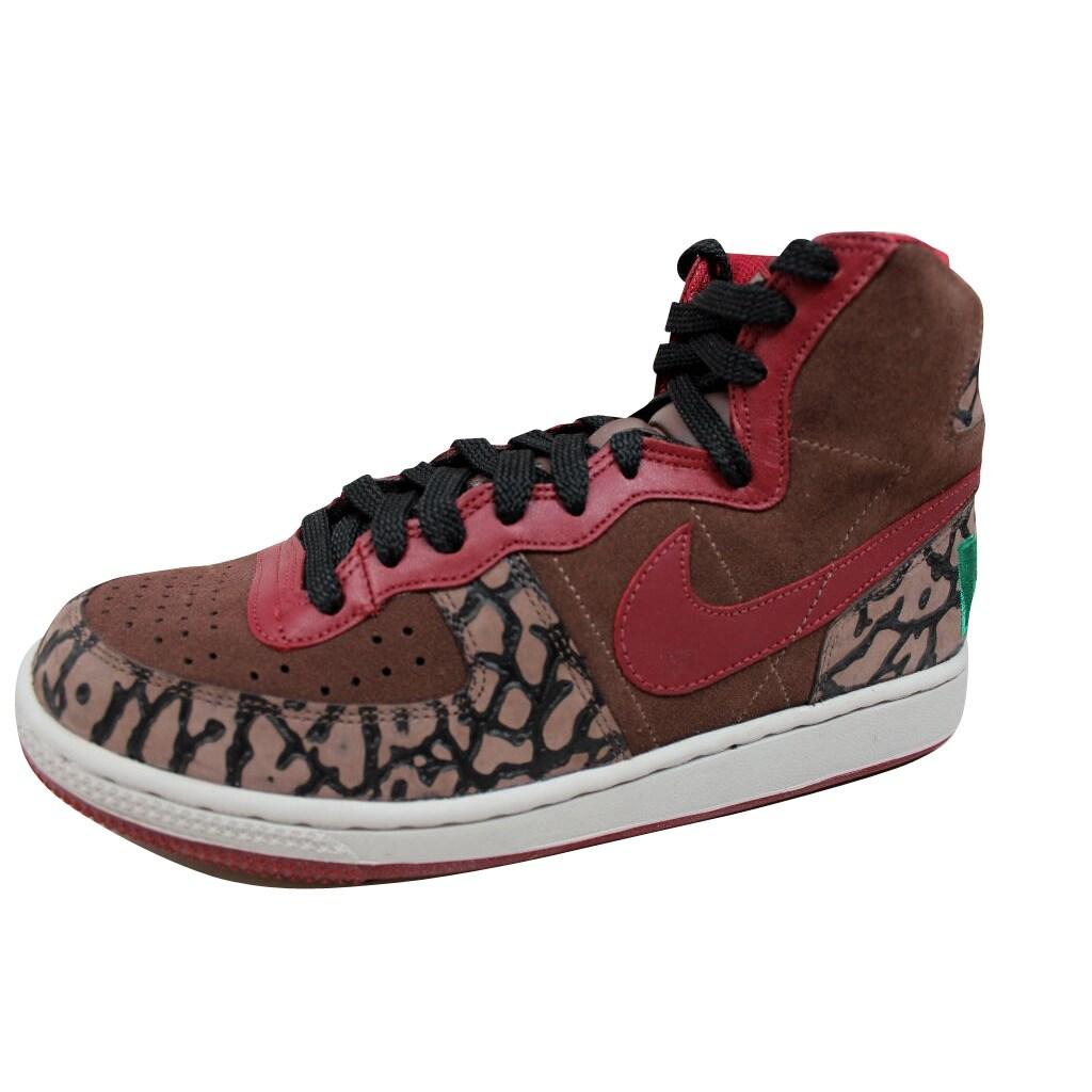 separation shoes 985be d6c55 Shop Nike Terminator Hi Premium Dark Oak Team Red-Black-Pine Green  307893-261 Men s - On Sale - Free Shipping Today - Overstock - 19507390