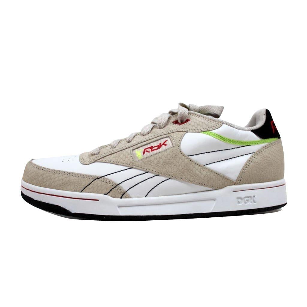 16f4555f69870 Shop Reebok Men s Club DGK Pump White Stucco-Red-Citron-Black 34-166674 -  Free Shipping Today - Overstock - 20129188