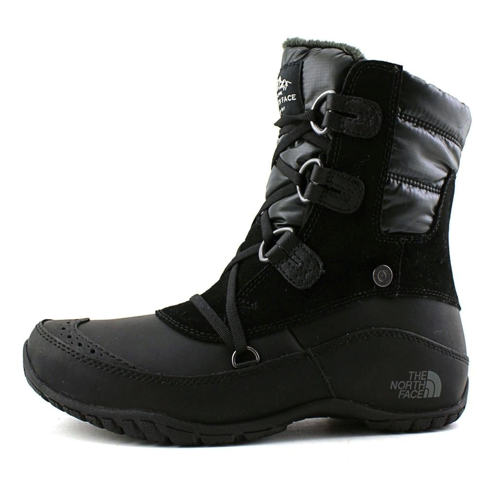 11c48415a The North Face Nuptse Purna Short Round Toe Leather Winter Boot