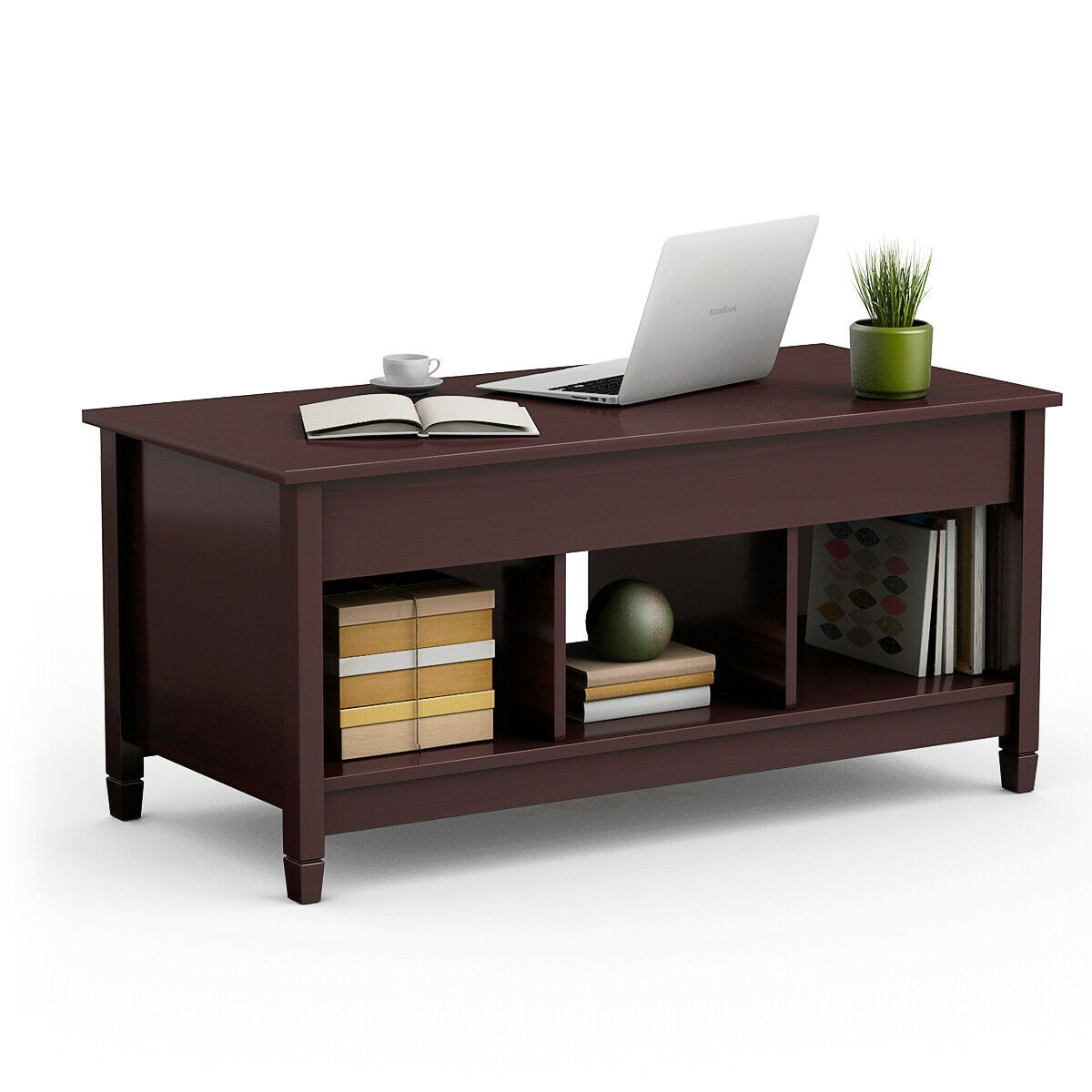 Lift Top Coffee Table.Costway Lift Top Coffee Table W Hidden Compartment And Storage Shelves Modern Furniture As Pic