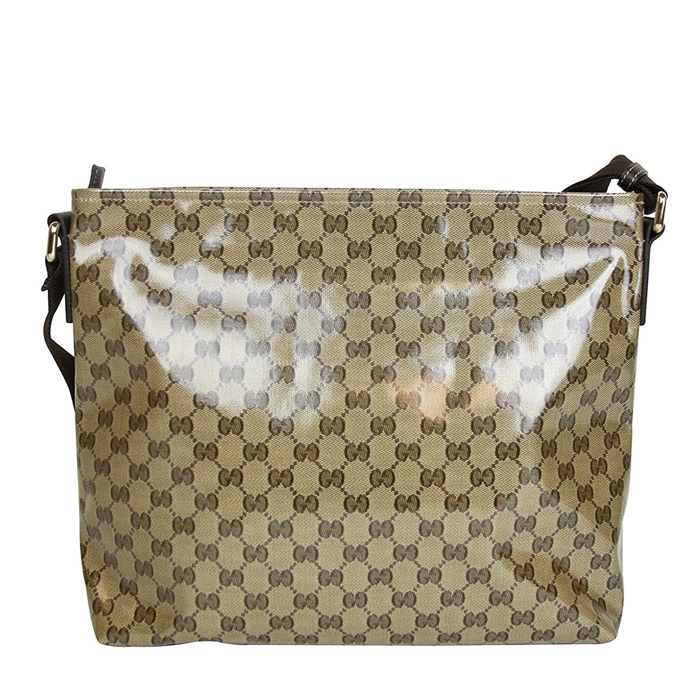 60f4f25a880 Shop Gucci Unisex Brown Crystal Canvas GG Messenger Bag 339569 9790 - One  size - Free Shipping Today - Overstock - 27603090