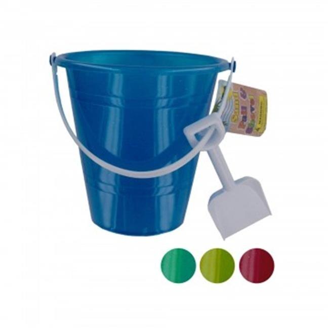 Bulk Buys SK201-72 Glitter Sand Pail with Shovel - 72 Piece