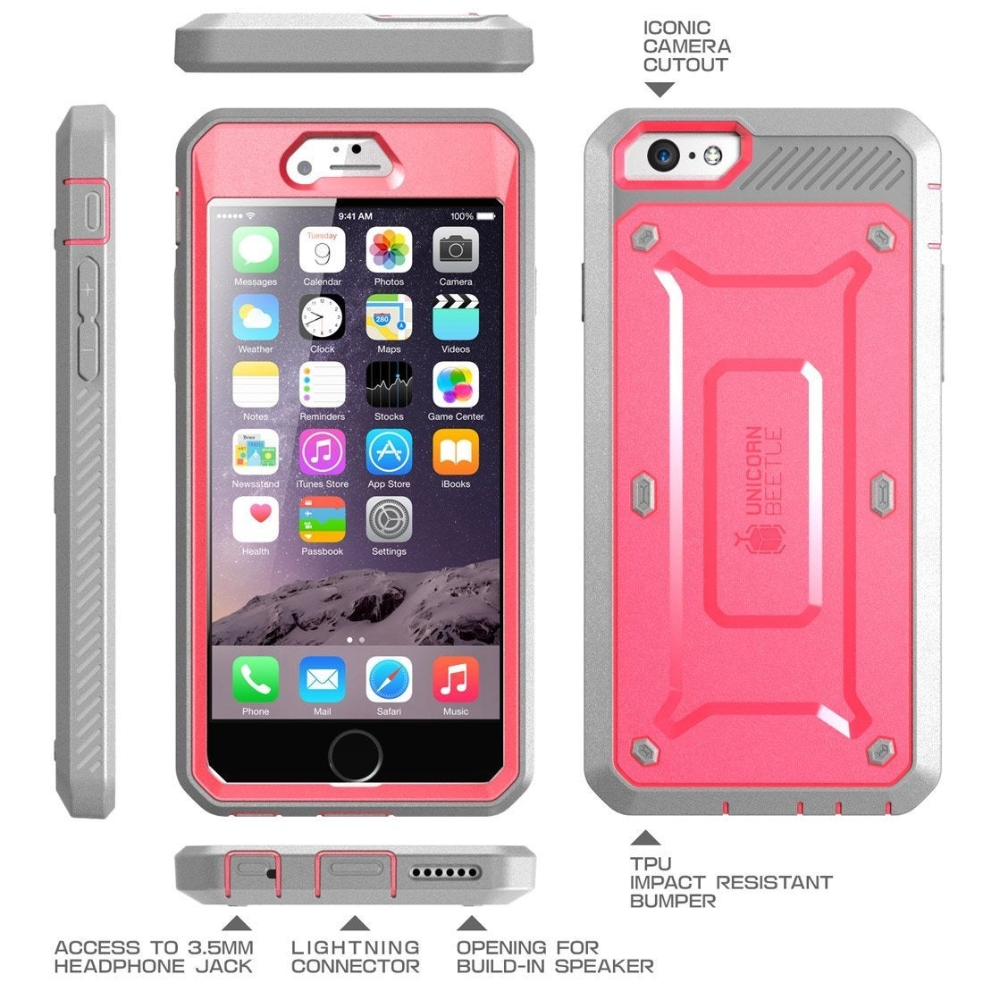 separation shoes e9109 d6e53 Shop iPhone 6S Case, Supcase, Unicorn Beetle Pro Case, Rugged ...