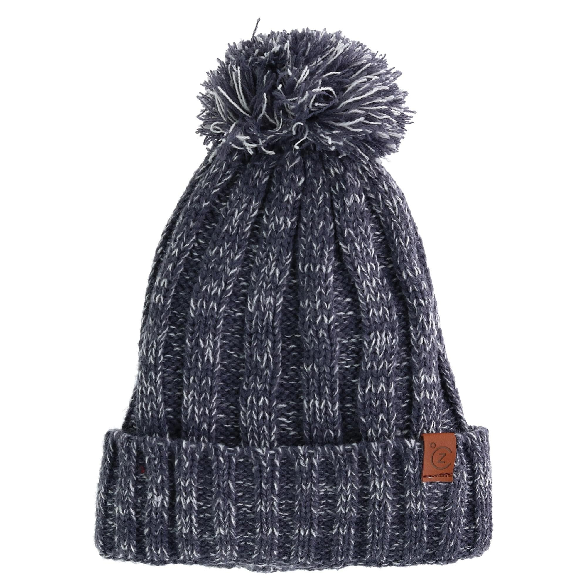 Shop ClimaZer0 Marled Knit Cuff Cap with Full Sherpa Lining - Free ... c56da32d635