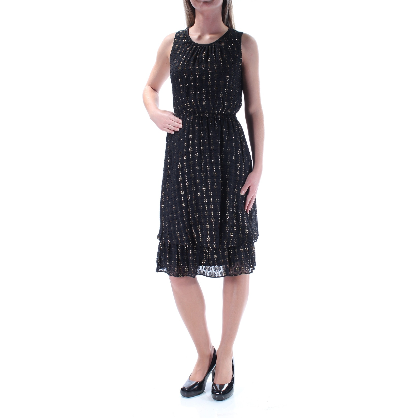 e349c725 Shop Womens Black Sleeveless Above The Knee Layered Cocktail Dress Size: 2XS  - On Sale - Free Shipping On Orders Over $45 - Overstock.com - 21511926