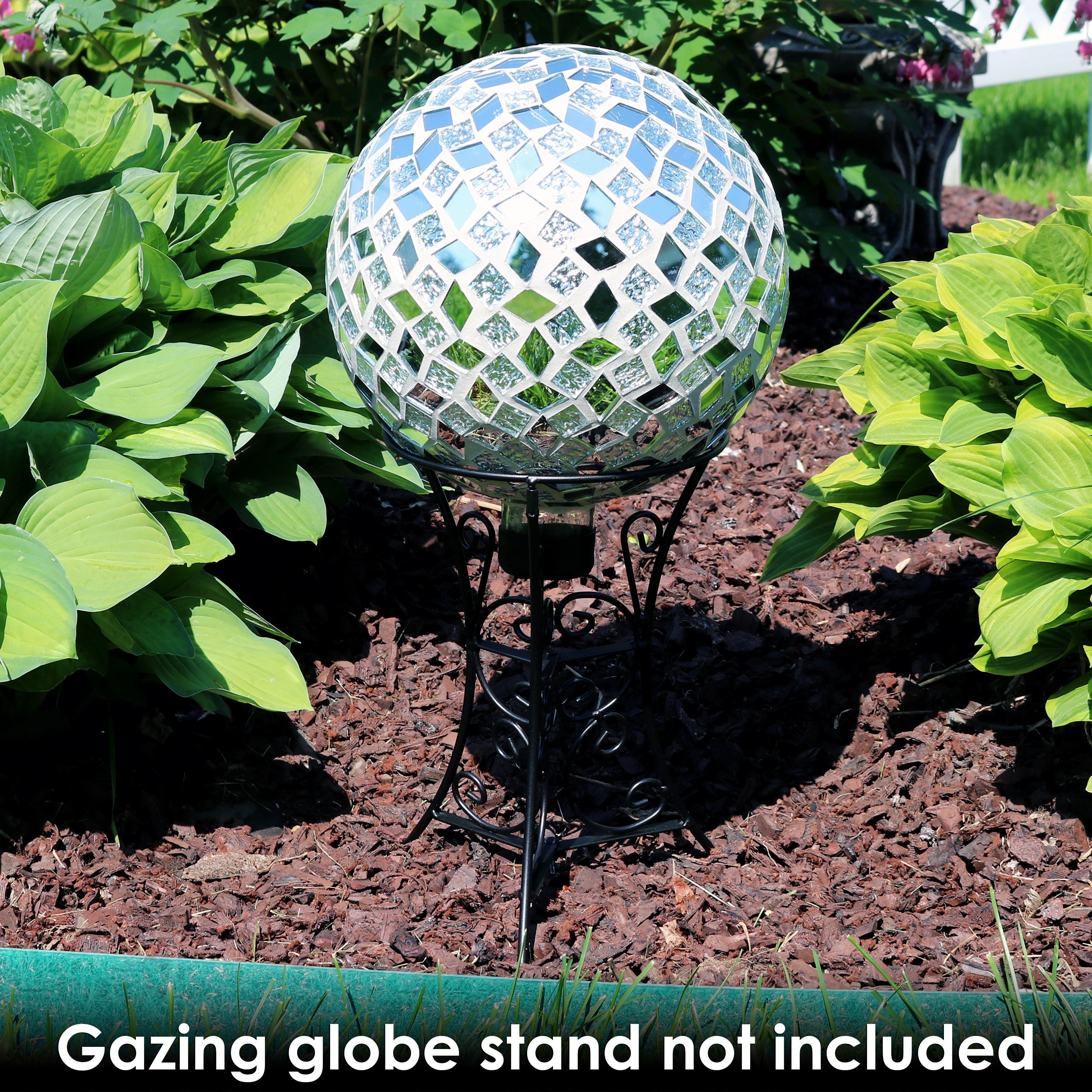 Shop Sunnydaze Mirrored Diamond Mosaic Outdoor Garden Gazing Globe Ball  Inch Free Shipping On Orders Over