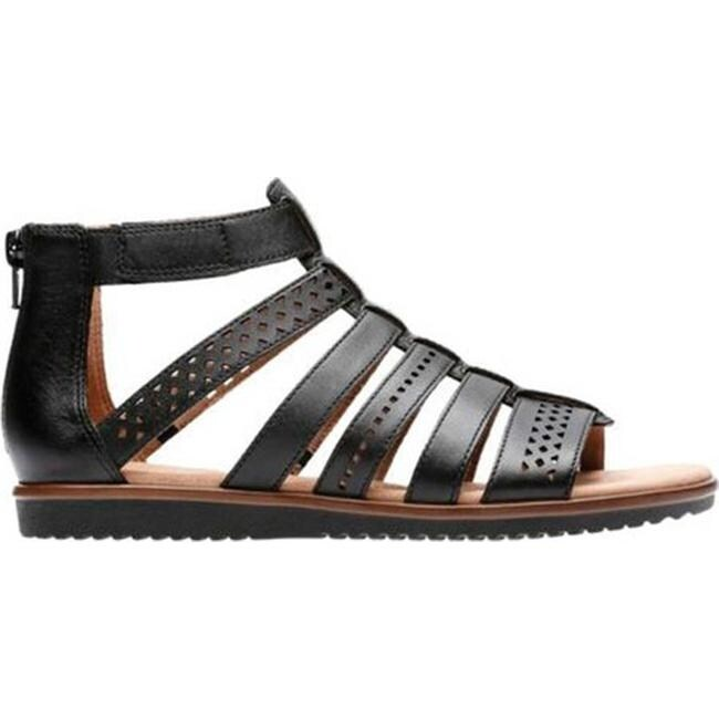 889a5d650 Shop Clarks Women s Kele Lotus Gladiator Sandal Black Full Grain Leather -  On Sale - Free Shipping Today - Overstock - 20590145