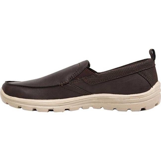 c91396dff5ab Shop Deer Stags Men s Everest 2 Slip-On Dark Brown Simulated Leather - Free  Shipping On Orders Over  45 - Overstock - 25782138