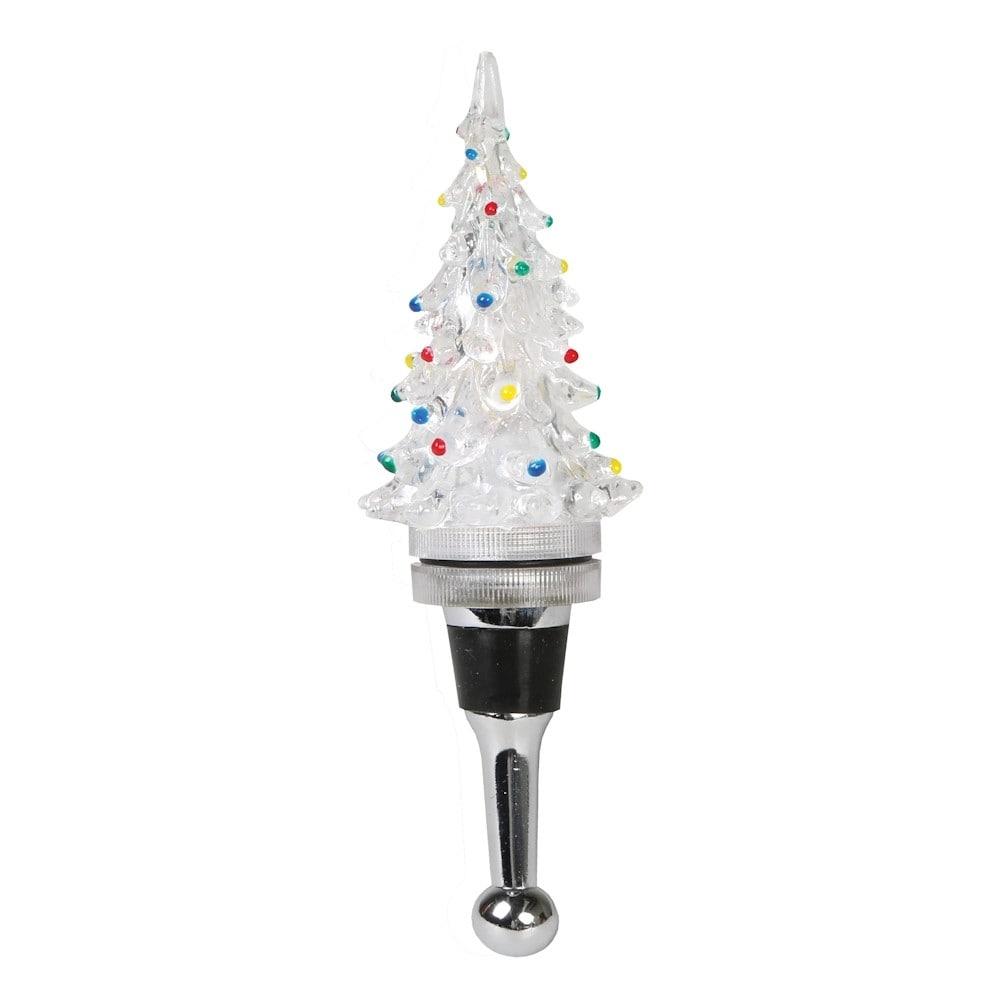 Shop Christmas Tree Light-Up Bottle Stopper - Electric LED Lights ...