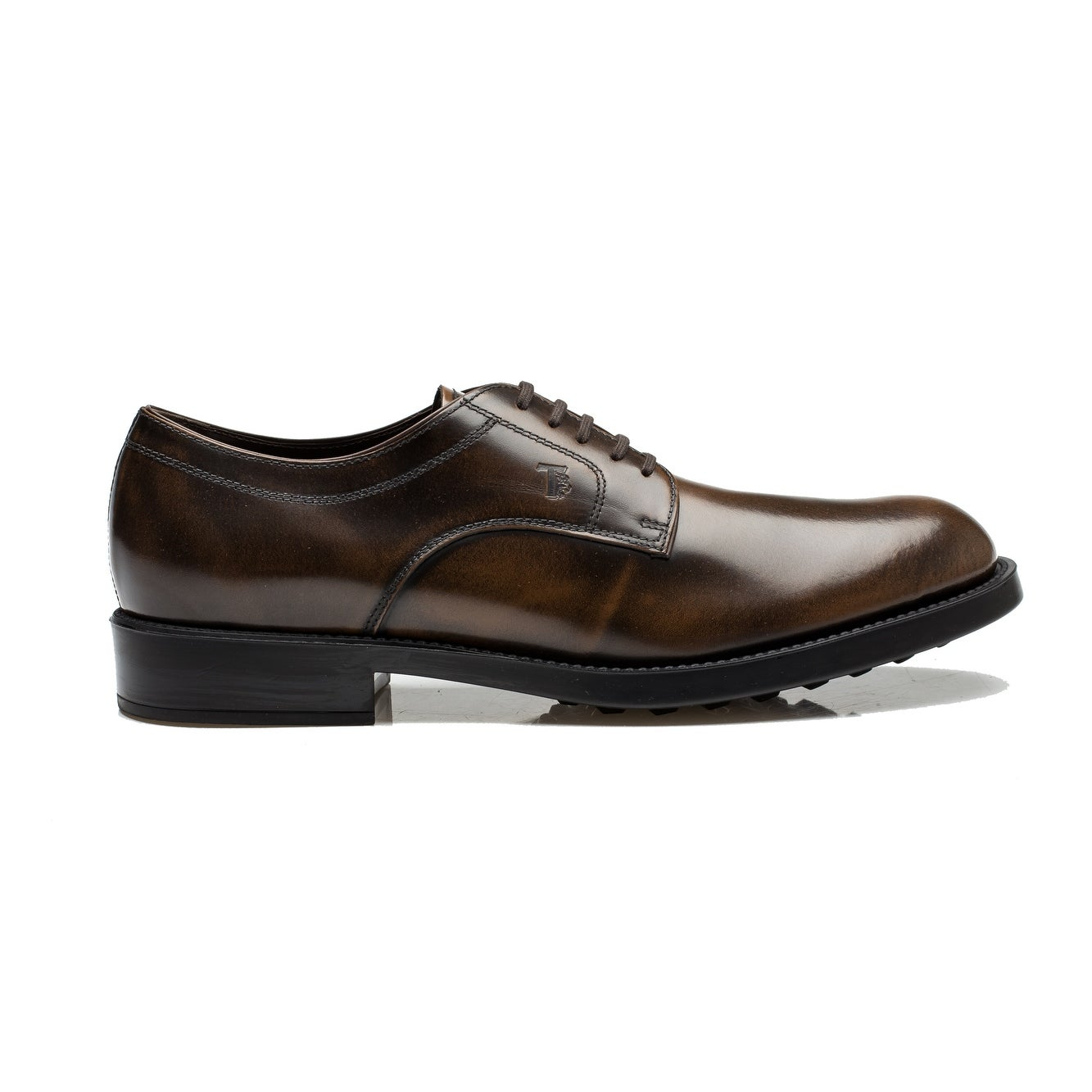 34fe9bc5432 Shop Tod's Men's Leather Derby Liscia Esquire Giovane Oxford Dress Shoes  Brown - Free Shipping Today - Overstock - 14380943