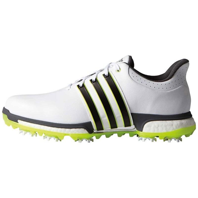 e29d328ff8 Adidas Men's Tour 360 Boost FTWR White/Core Black/Solar Yellow Golf Shoes  F33251