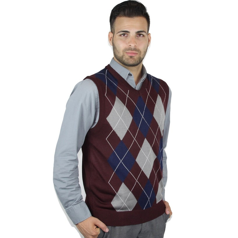 Shop Mens Argyle Sweater Vest Free Shipping On Orders Over 45