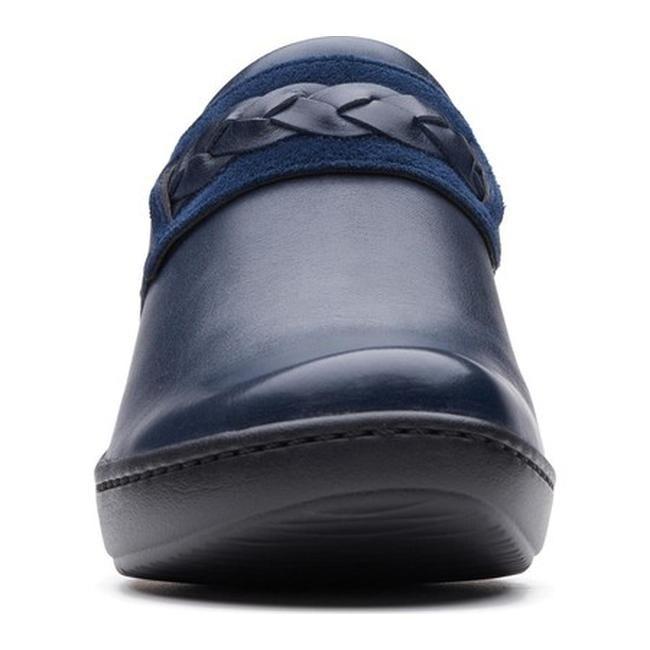 3cb4408c85824 Clarks Women's Delana Abbey Clog Navy Full Grain Leather
