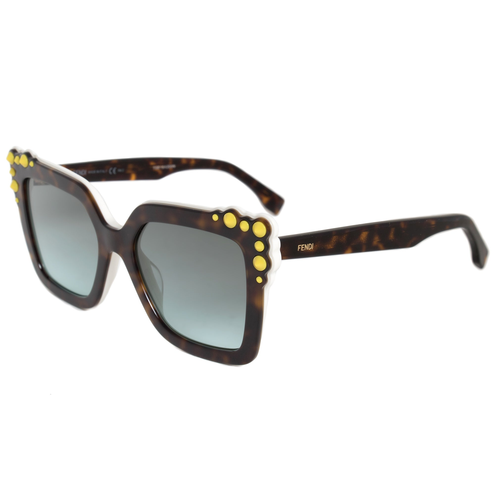 b9662d651d8 Shop Fendi Can Eye Square Sunglasses FF0260S C9K EQ 52 - On Sale - Free  Shipping Today - Overstock - 19623072