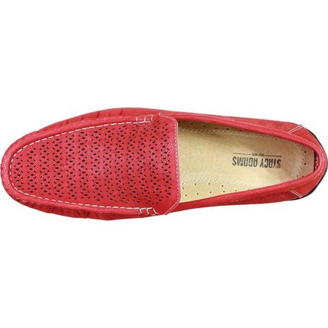 89401e56494 Shop Stacy Adams Men s Cicero Perfed Moc Toe Loafer 25172 Red Synthetic - Free  Shipping Today - Overstock - 19891737