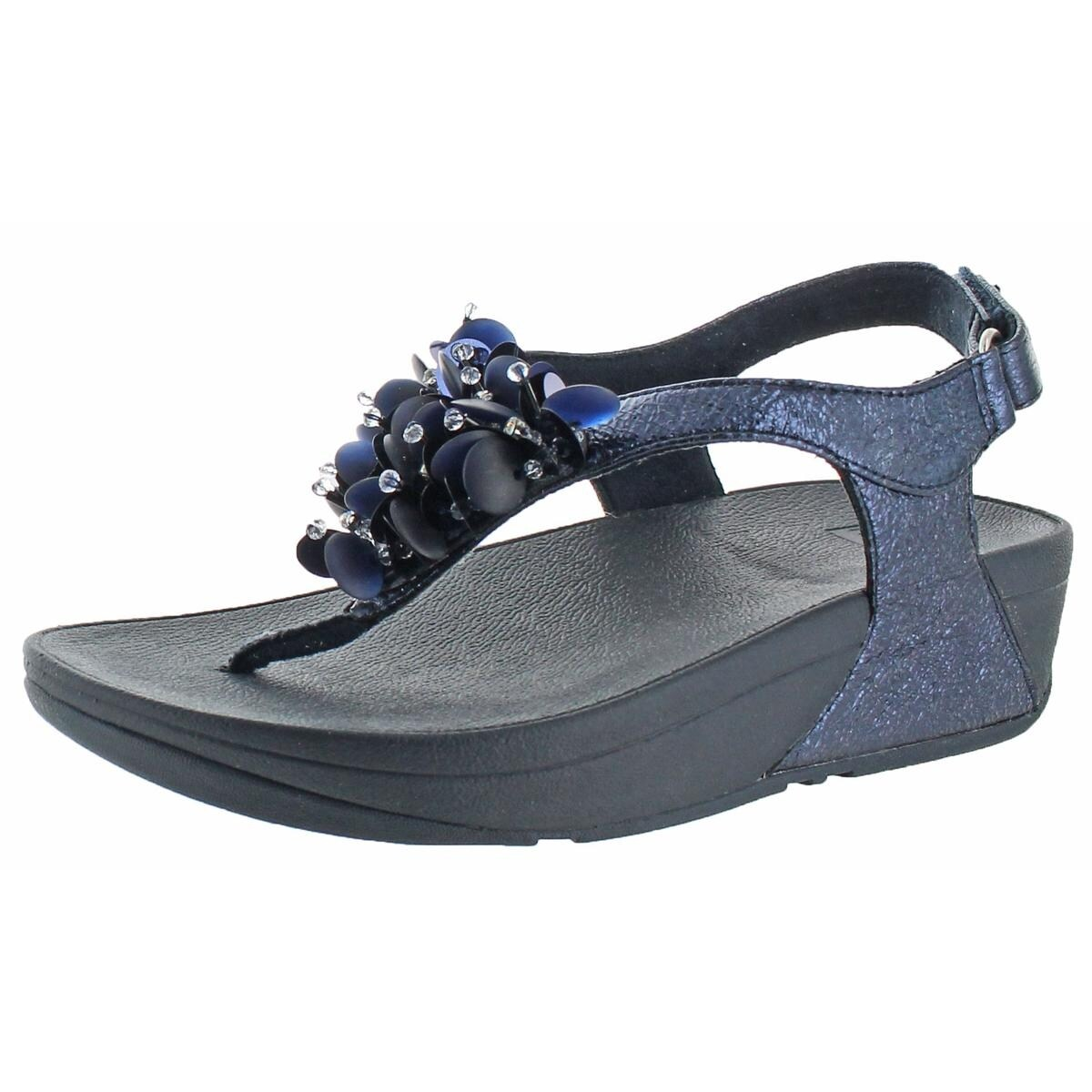 66820e0b9fe1 Shop Fitflop Womens Boogaloo Back Strap Thong Sandals Leather Back Strap -  Free Shipping Today - Overstock - 26060684