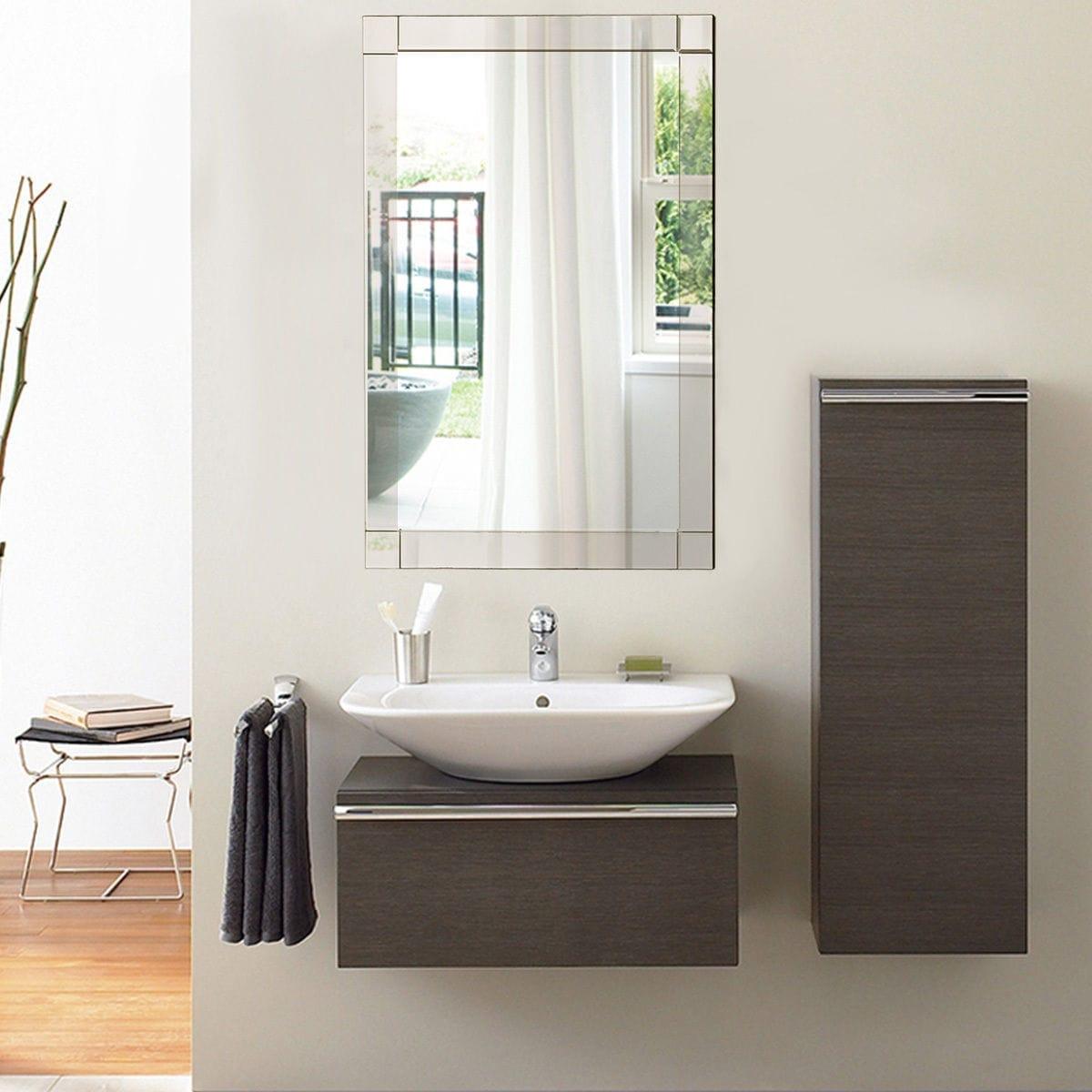 Shop Costway 36\'\' Wall Mirror Rectangle Vanity Bathroom Home ...