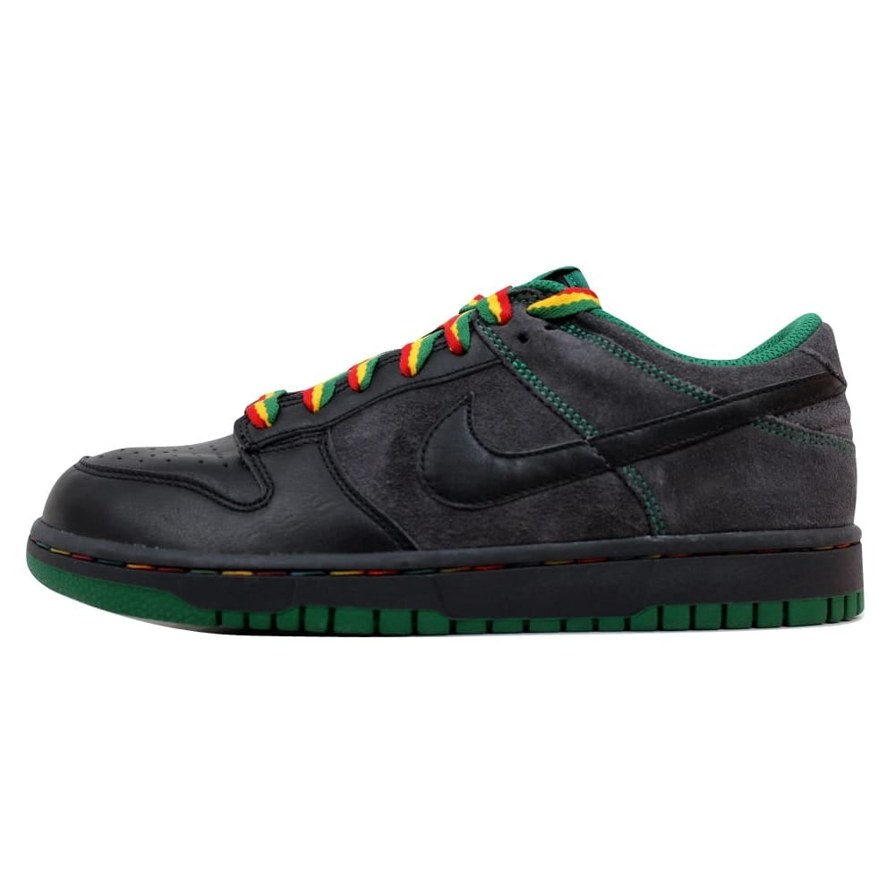 brand new 9ac13 1ceb9 Shop Nike Dunk Low CL Black Black-Anthracite-Pine Green Rasta Jamaica Men s  304714-909 Size 9 Medium - Free Shipping Today - Overstock - 19509839