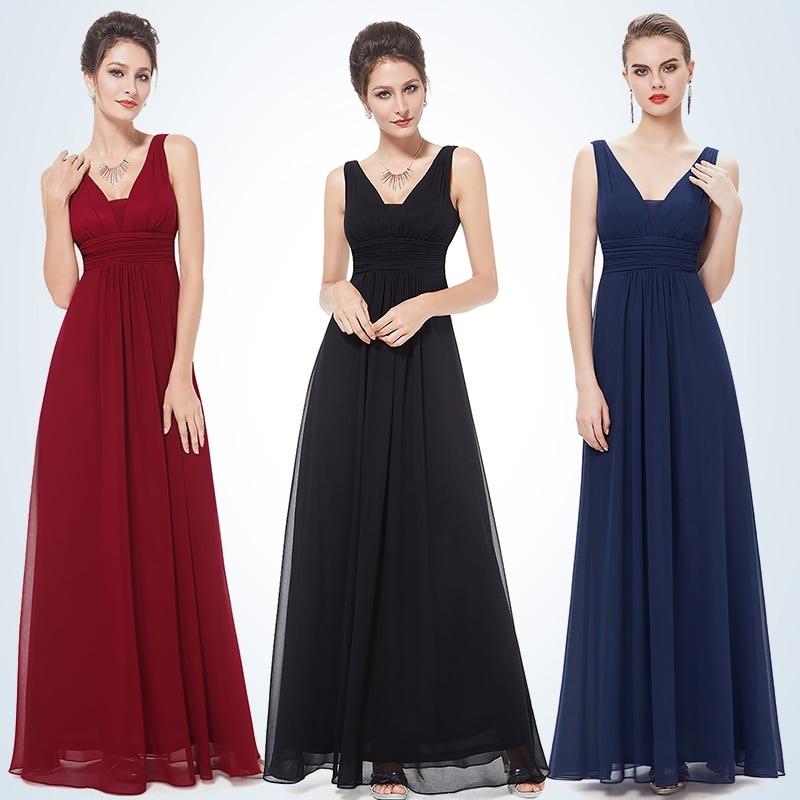5d7090a1ed0 Shop Ever-Pretty Women s Elegant Deep V-neck Long Evening Dress ...