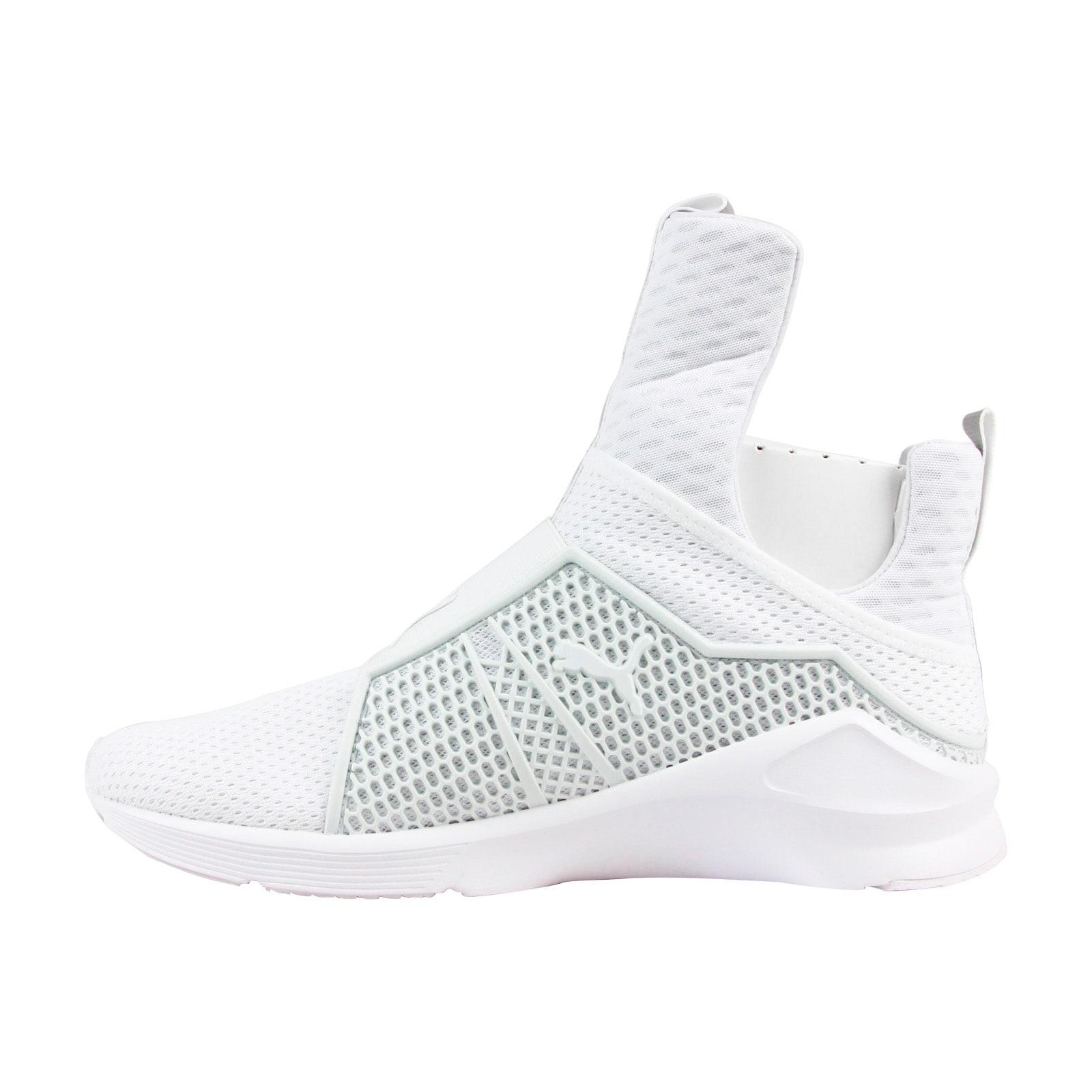 new product e7f3b ecd8b Puma Fenty Trainer Mens White Mesh & Nylon Athletic Slip On Training Shoes