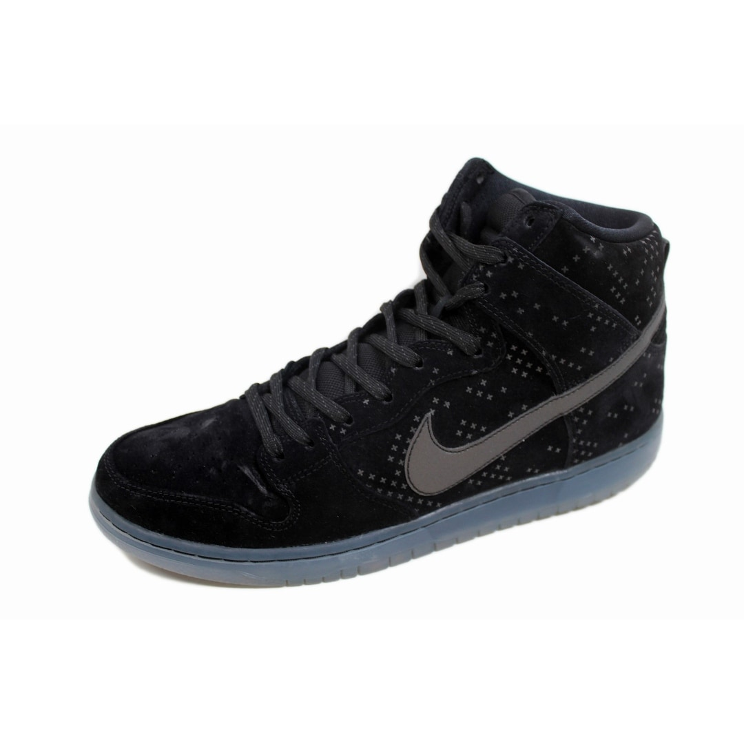 reputable site 38d02 6b757 Shop Nike Men s Dunk High Premium Flash SB Black Black-Clear 806333-001 -  Free Shipping Today - Overstock - 20131661