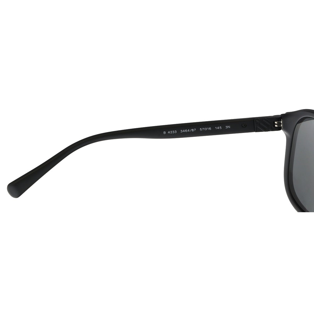 88a84469135 Shop Burberry BE4233 346487 Matte Black Rectangle Sunglasses - 57-16-145 -  Free Shipping Today - Overstock - 21158379