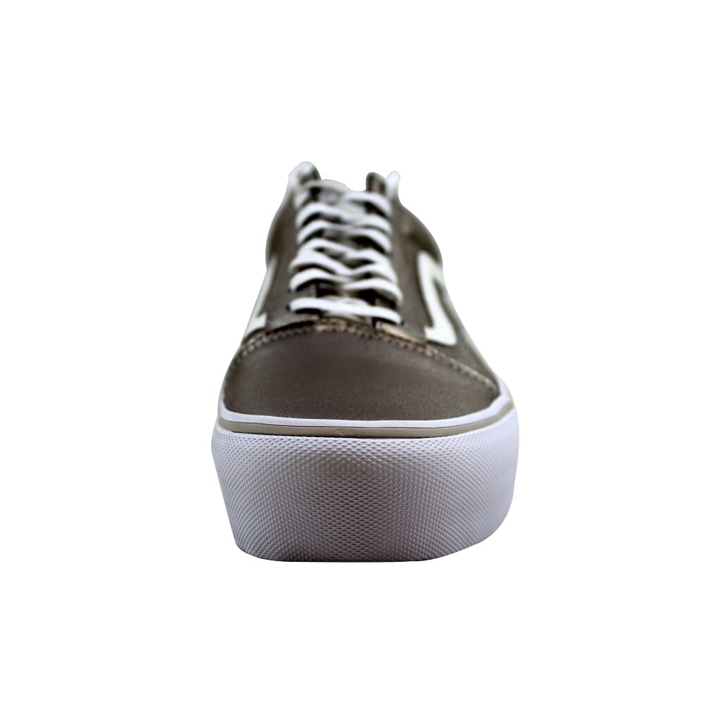 beee541cb4a9 Shop Vans Men s Old Skool Platform Gray Gold True White VN0A3B3UOV6 - Free  Shipping Today - Overstock - 22340187