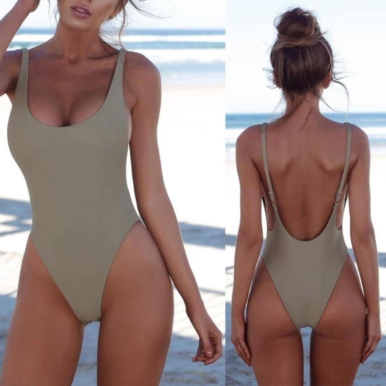 c2ad58418a1cc Shop Sexy Push Up One-piece Backless Solid Retro Triangle Swimsuit Swimwear  MOM - On Sale - Free Shipping On Orders Over $45 - Overstock - 27517101
